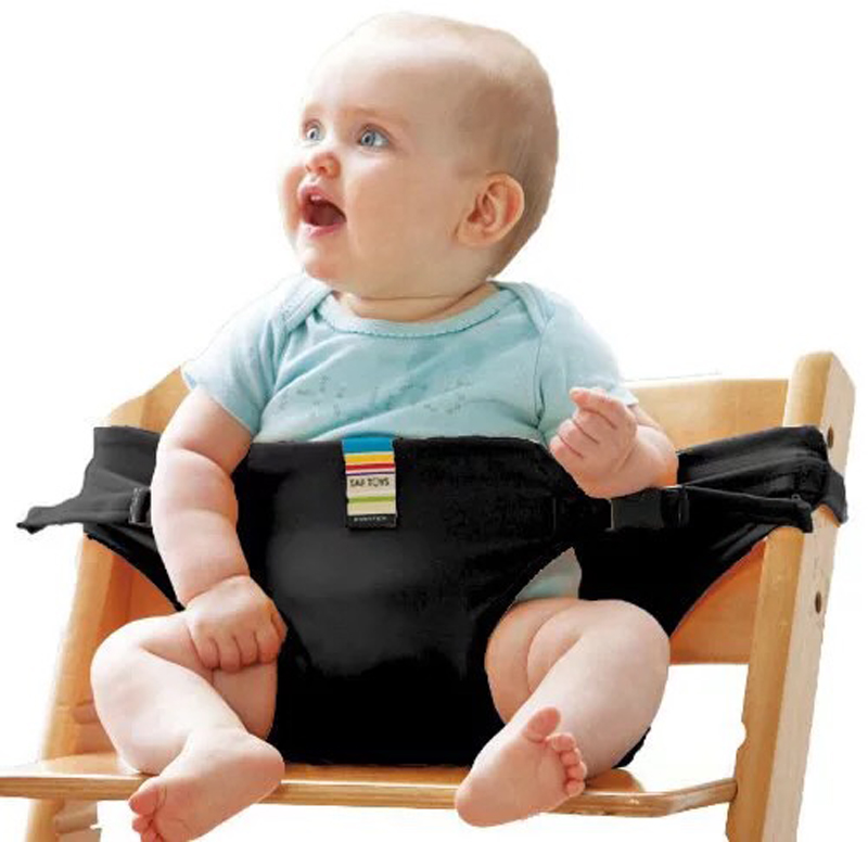 Baby Dining Chair Safety Belt Portable Seat Lunch Chair Seat Stretch Wrap Feeding Chair Harness Baby Booster Seat #4
