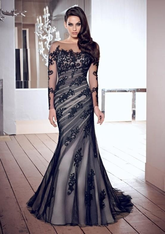 Compare Prices on Plus Size Prom Dresses Black Mermaid with Lace ...