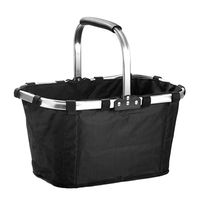 Foldable Waterproof Shopping Basket Sturdy Large Capacity Camping Picnic Carrying Bag Movable Handle Anti Slip Rubber Pad