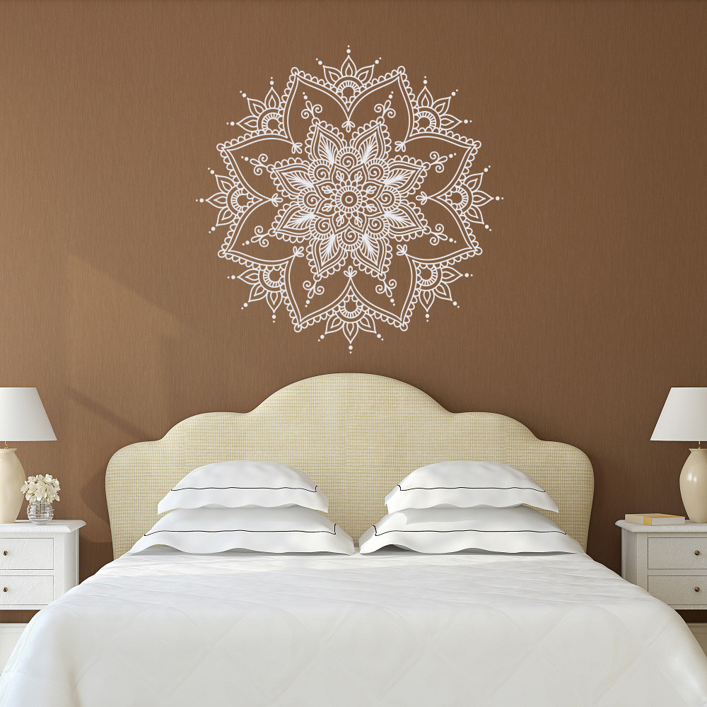 Bohe Mandala Flower Wall Paper Decor Yoga Studio Vinyl: Aliexpress.com : Buy Wall Decal Vinyl Sticker Mandala