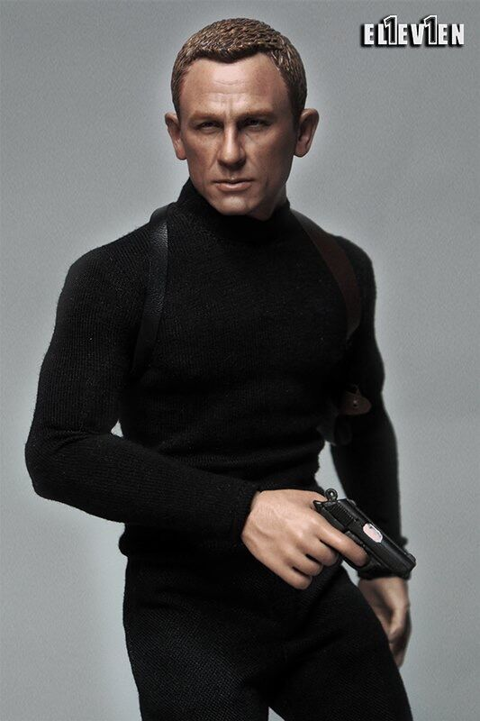 1/6 figure clothing accessory Daniel Craig 007 James Bond clothes with head sculpt for 12 Action figure doll,Not included body
