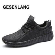 Для мужчин черный Бег Спортивная обувь дышащие мягкие Нескользящие мужской комфортные кроссовки кожа Открытый Туризм обувь для походов обувь Лидер продаж