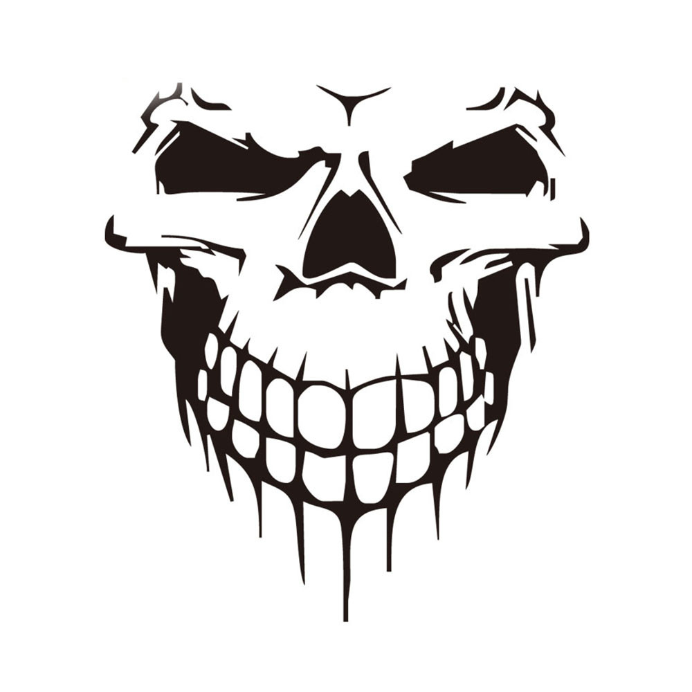 Compare Prices On Skull Stickers Car Rear Window Online Shopping - Truck decals for back window   online purchasing