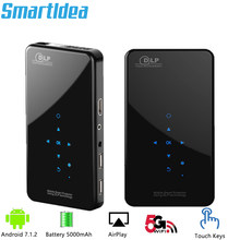 SmartIdea X2 HD Handheld DLP Projector Android 7.1 Wifi bluetooth 4.1 Pico Pocket Proyector HD Portable Beamer Miracast Airplay(China)