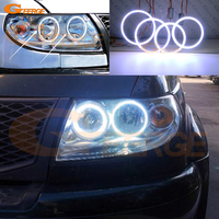 For UAZ Patriot Baijah Tulos 2007 2014 Excellent angel eyes Ultra bright illumination COB led angel eyes kit halo rings