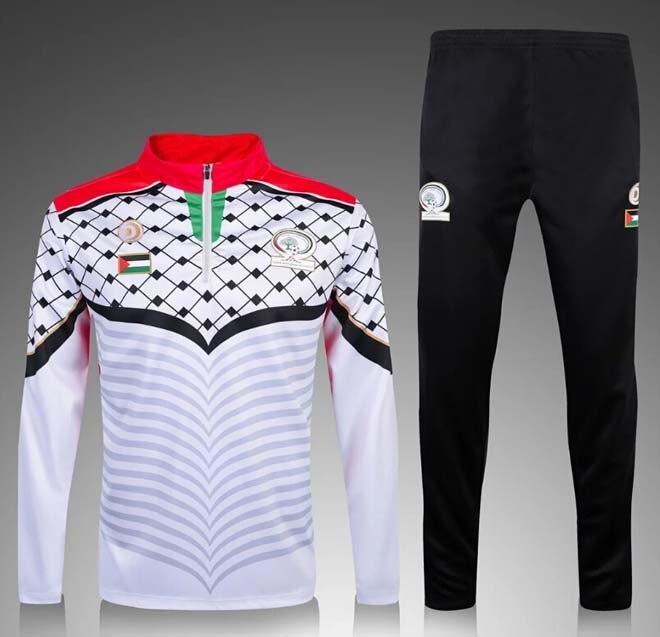 Thai Quality for survetement Palestino black sweatshirt Maillot de foot Palestine Futbol Camisa Tracksuit Running sets