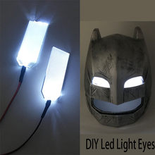 DIY Mata Lampu LED Kit untuk 1:1 Iron Man Black Panther Batman Helm Cosplay Mata Lampu Warna Putih Masker Aksesoris(China)