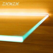 110-240 В светодиодная подсветка под шкаф 30 см 40 см 50 см датчик ручного сканирования стеклянная шина светодиодный светильник с алюминиевой полосой