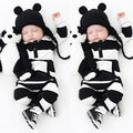 UNIKIDS Adorable Autumn New Baby Boys Girls Newborn Striped Romper Outfit Bodysuit Jumpsuit Clothes 0-3 Years