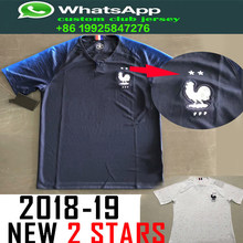 a168066487e 2 stars Franceing 2018 World Cup Soccer Jerseys MBAPPE GRIEZMANN POGBA  Jersey 18 19 de foot