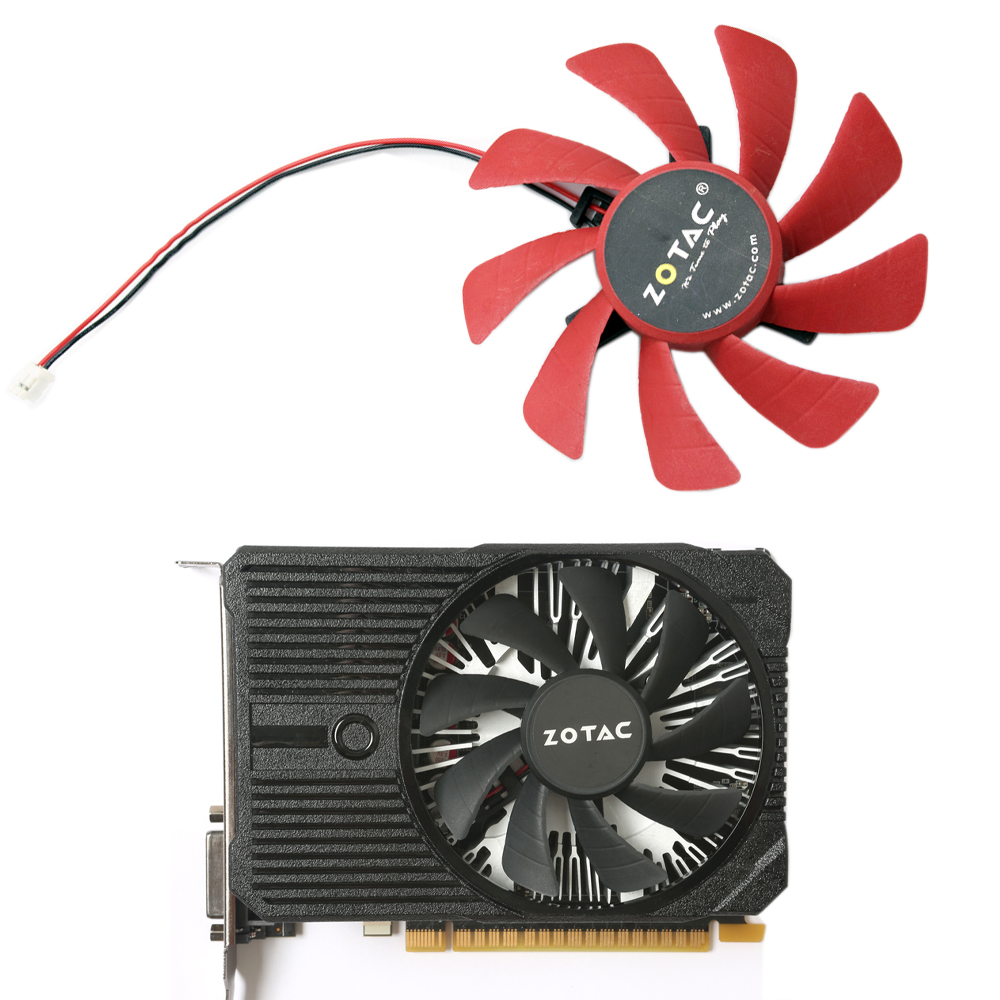 85mm T129215SH 2PIN GTX 1050 MINI Cooler Fan Replace For ZOTAC GeForce GTX 1050 Mini 2GB GeForce GTX 1050 Ti Mini 4GB Cards