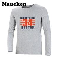 Hommes Automne Hiver Personne Ne L'ont fait Mieux Walter Payton #34 T-Shirt À Manches Longues T-shirts T-shirt Hommes de W1017015