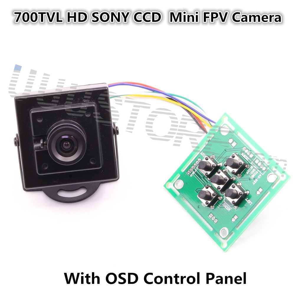 Новинка 2015, FPV-системы 700TVL HD Mini Камера 1/3 Sony CCD effio-е с OSD меню для Радиоуправляемый вертолет MultiCopter автомобиля FPV-системы NTSC/PAL Системы