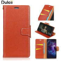 Dulcii For Samsung Galaxy Xcover 4 Litchi Skin Wallet Genuine Leather Case Mobile Phone Accessory For