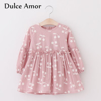 Dulce Amor Girls Dress Baby Girl Clothes 2018 New Arrival Spring Casual Princess Dress For Girl