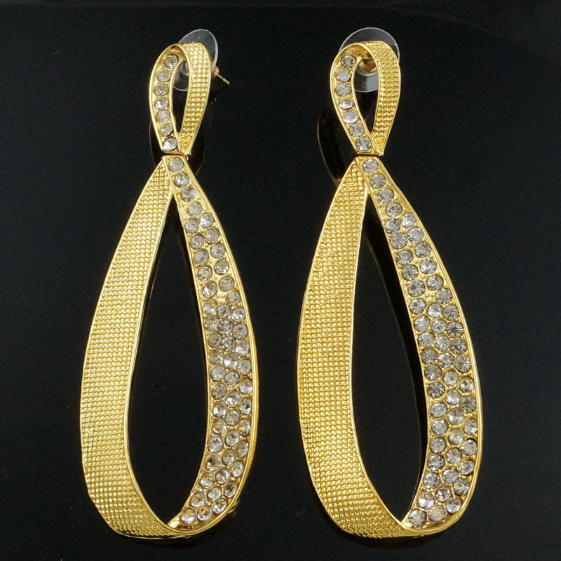 sex mama drop earrings wedding earrings gift gold Rhinestone big earrings crystal earrings wholesale price