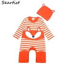 Newborn Winter Footies Jumpsuit Kids Striped Pajamas Bebes Autumn Footed Body Suit Baby Boy Girl Clothes 48(China)