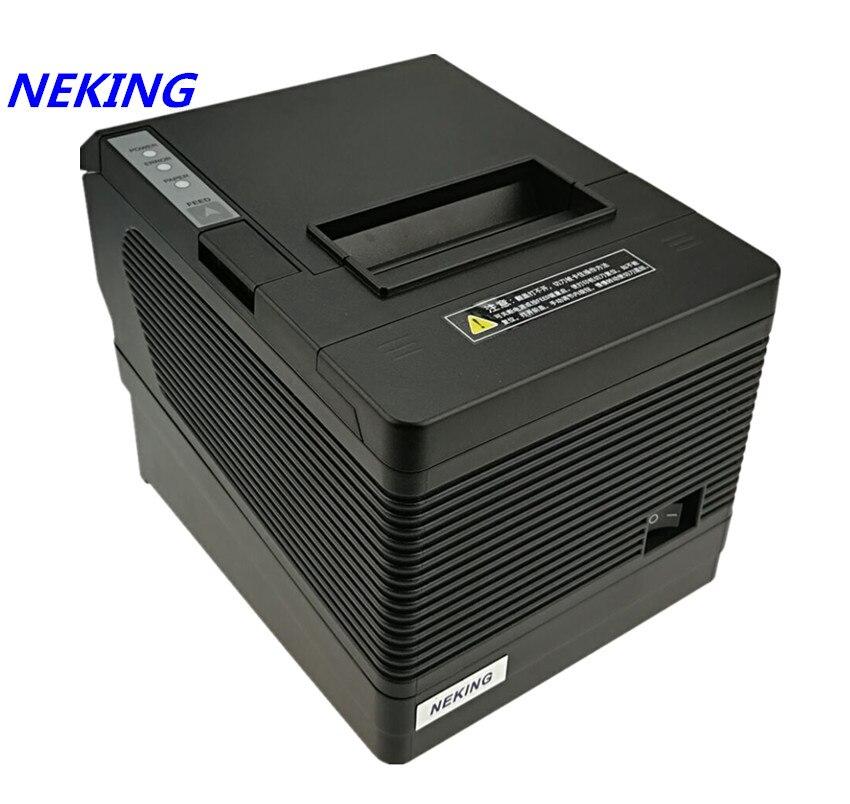 80mm réception POS imprimante Automatique cutter bill imprimante Thermique USB Ethernet Série Trois ports sont intégrés dans une imprimante