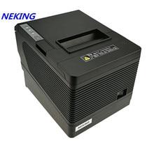 80 мм квитанции pos-принтера автоматический резак Билл термопринтер USB Ethernet последовательный три порта интегрированы в одном принтере