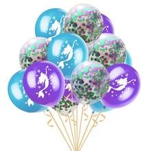 15pcs/set Little Mermaid Latex Balloons Multicolor Wedding Confetti Ballon Birthday Party Decoration Baby Shower Supplies