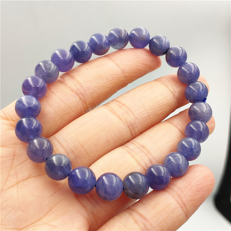 Genuine Natural Tanzanite Tanzania Bracelet For Women Men Gemstone Blue 8mm Round Beads Stretch Jewelry Crystal Bracelet AAAAAGenuine Natural Tanzanite Tanzania Bracelet For Women Men Gemstone Blue 8mm Round Beads Stretch Jewelry Crystal Bracelet AAAAA