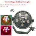 4 шт./лот 11 Вт RGB светодиодный хрустальный магический шар светодиодный сценический светильник режимы управления звуком сценическое освещен...