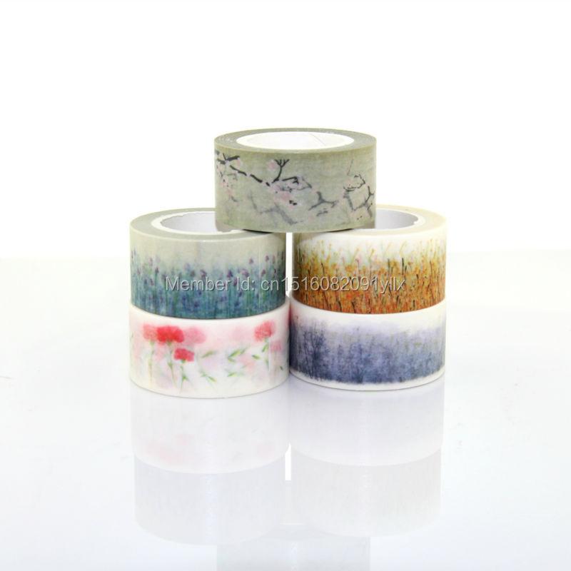 High quality lovely 10m adhesive masking scotch tape christmas washi decorative tape