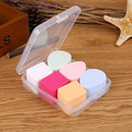 6pcs /lots Makeup Sponge Flawless Smooth Powder Beauty Cosmetic Puff Make up Clean Tools with Retail Box -27