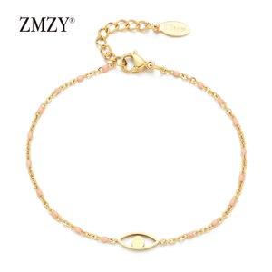 Image 3 - ZMZY 7pcs Mixed Color Boho Evil Eye Charm Vintage Stainless Steel Bracelet Women Gold Color Chain Bracelets Bangles Jewelry