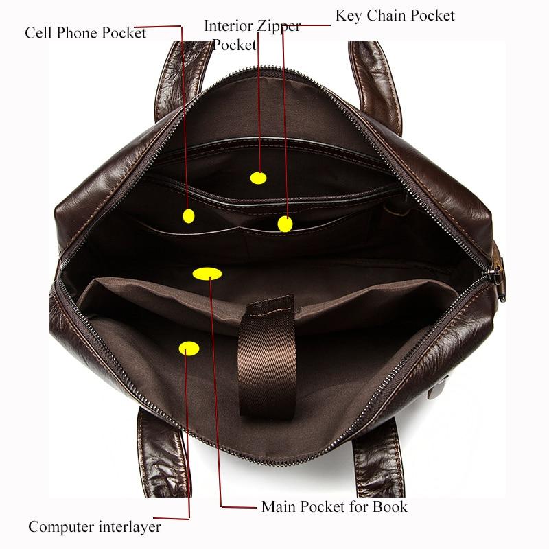 pasta executiva masculino bolsa masculina Openings Way : Zipper Laptop Handbag Messenger
