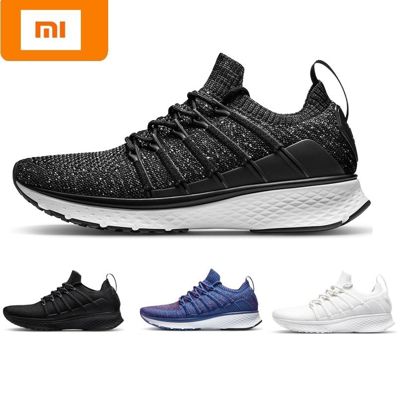 купить Original Mi Xiaomi Mijia Men Smart Running Shoes Outdoor Sport MI Air Mesh Sneakers 2 Breathable Knitting Vamp Tennis not chip по цене 3473.12 рублей