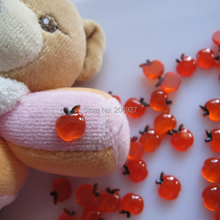 RC169-1 30 шт милые в форме яблока украшения ногтей смолы outlook