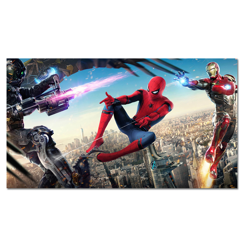 Movie Posters Wall-Pictures Spiderman Superheroes Home-Decoration Fighting Art Prints