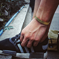 Titanium Steel Black Couples Bracelets Lover Cuff Bangle Bracelet Wedding Jewelry Punk Fashion 24K Gold Cuff Bangle Men & Women