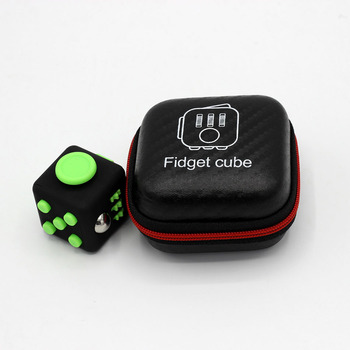 2017 Hand Spinner Fidget Cube With Button Anti Irritability Toy Stress Relief for Adults and Children 12 Fidget Vinyl Desk Toy 1