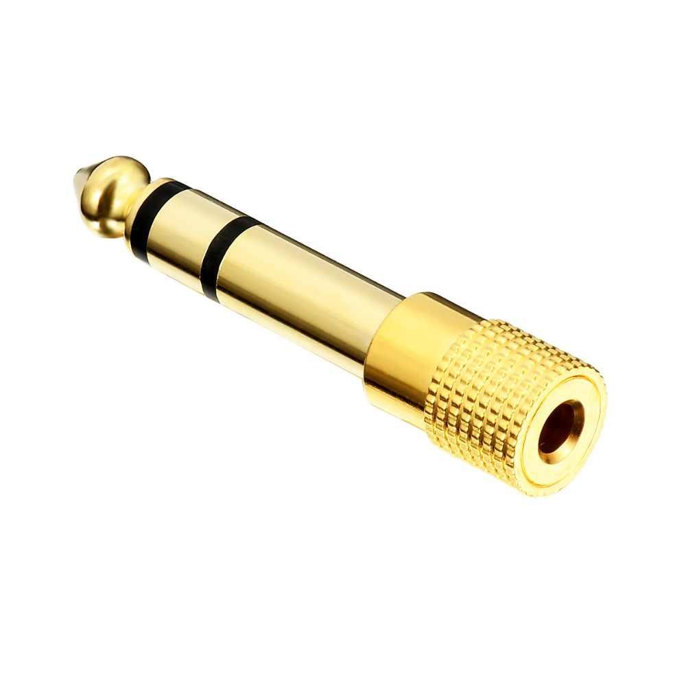 1 Piece 6.35 Mm Jack untuk 3.5 Mm MALE Ke Female Plug Konektor Headphone Amplifier Audio Adapter Mikrofon AUX 6.3 3.5 Mm Converter