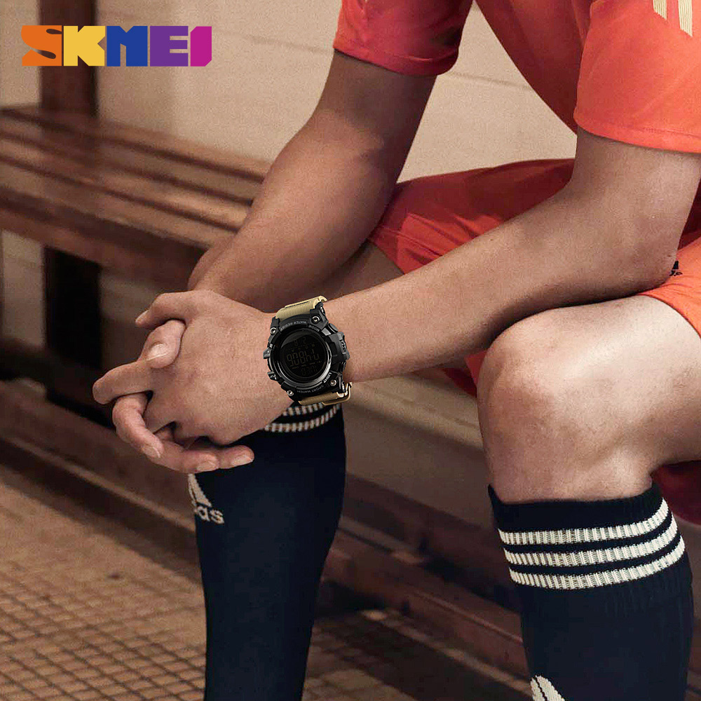 SKMEI Mænd Outdoor Sports Watch Countdown 2Time Alarm Fashion - Mænds ure - Foto 3