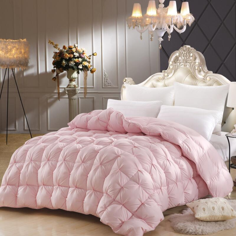 good qaulity twisting winter 95 goose down comforter quilt winter quilt warmly pink comforter king