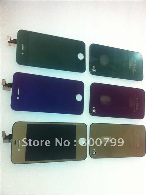 Green Chromed conversion kit for iphone 4S