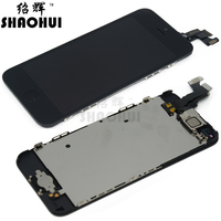 A Quanlity New Replacement LCD For IPhone 5C LCD Digitizer Assembly With Frame Camera Holder Black