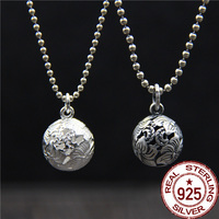 925 Pure Silver Pendant With A Hollowed Out Flower Ball The Small And Hollow Small Fry