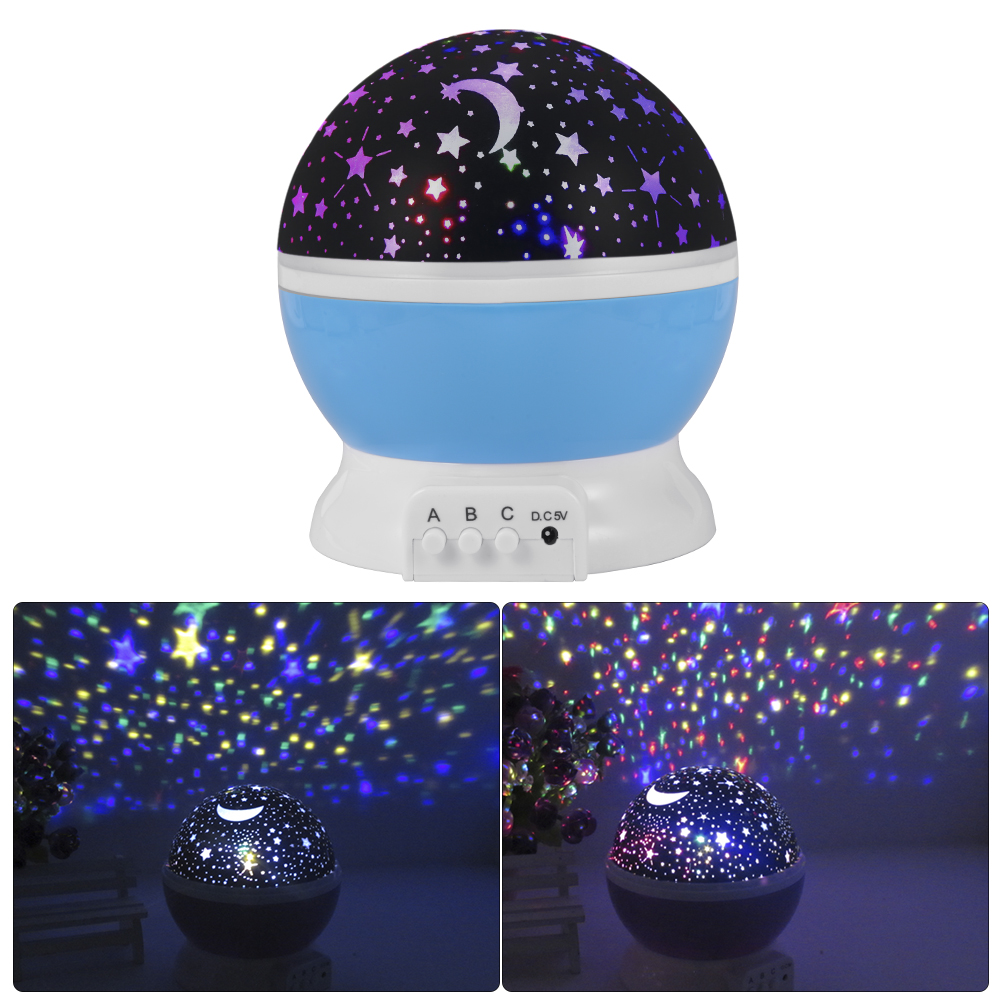 Four seasons star projector lamp - Room Novelty Night Light Projector Lamp Rotary Flashing Starry Star Moon Sky Star Projector For Kid