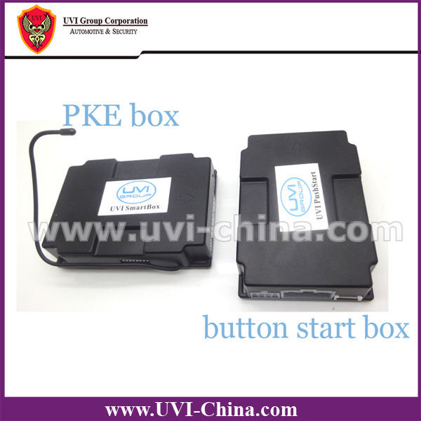 Anti Theft Alarm For Car Security PKE Passive Keyless Entry System+Remote Control+Engine Start Stop Button Switch