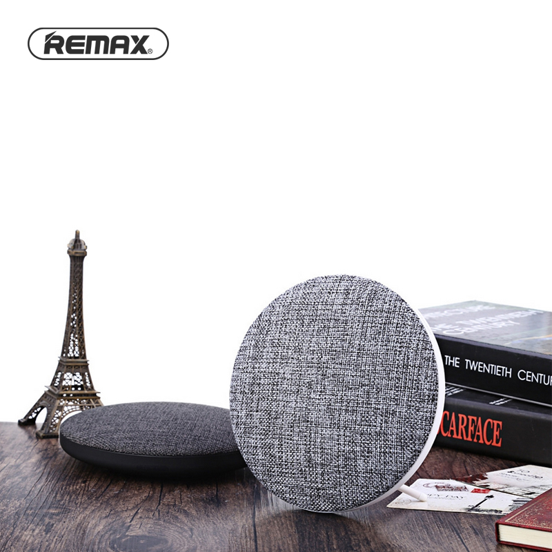 Remax Desktop Fiber Bluetooth Speaker Elegant Linen Cloth Speaker 3.5Wx2 Stereo HiFi 1800mAh Speaker for Laptop/mobilephone