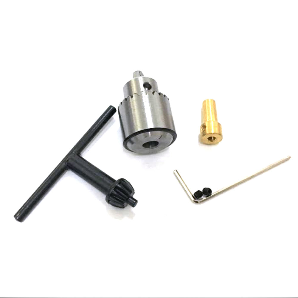 0.3-4mm Jt0 Micro Motor Drill Chucks Taper Mounted JTO Drill Chuck With Chuck Key 3.17mm Brass Mini Electric Motor Shaft