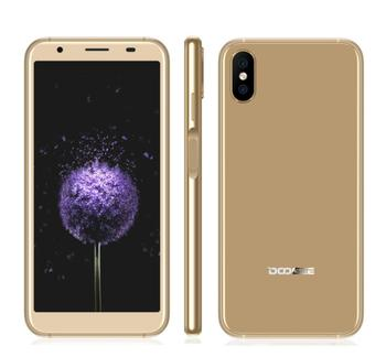 DOOGEE X55 5.5HD 18:9 Full Screen 8MP Dual Real Cameras MT6580 Quad Core SmartPhone 1GB+16GB Android 7.1 GPS OTA Fingerprint 3G smartphone