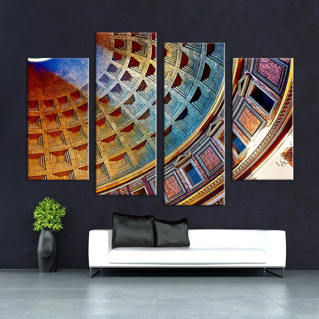 Hot Sells 4pcs HD Coliseum Rome Italy Wall Art Picture Home ...