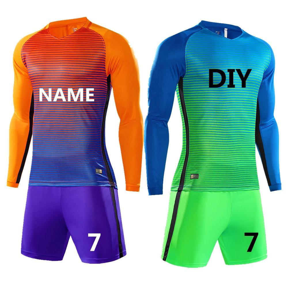 184194110 Kids Boy Soccer Jerseys Sets Survetement Football Kits Adult Men Child Long  sleeve