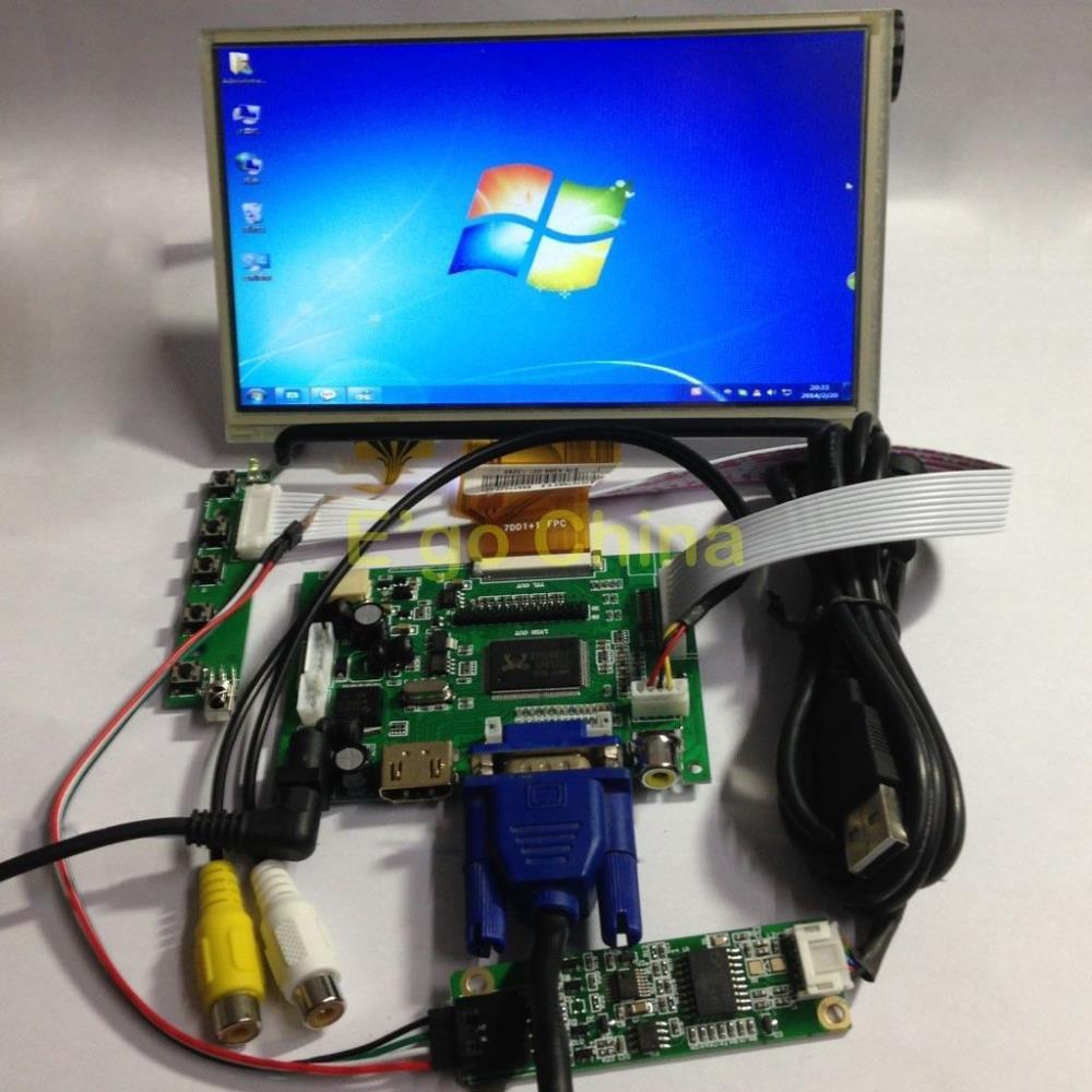 7 800*480 AT070TN92 LCD Module Monitor Display + Touch Panel w/ USB Controller + HDMI/VGA/2AV Board for Raspberry Pi7 800*480 AT070TN92 LCD Module Monitor Display + Touch Panel w/ USB Controller + HDMI/VGA/2AV Board for Raspberry Pi