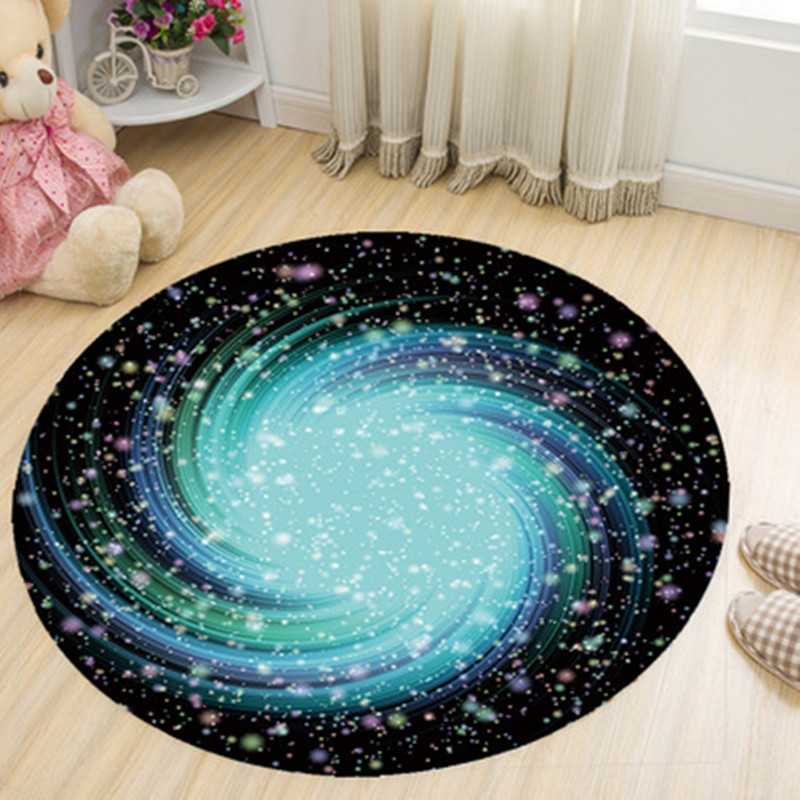 200cm Round Carpet 3D Print Earth Planet Soft Carpets Anti-slip Rugs Kids Room Computer Chair Floor Mats Rug For Home Decorate